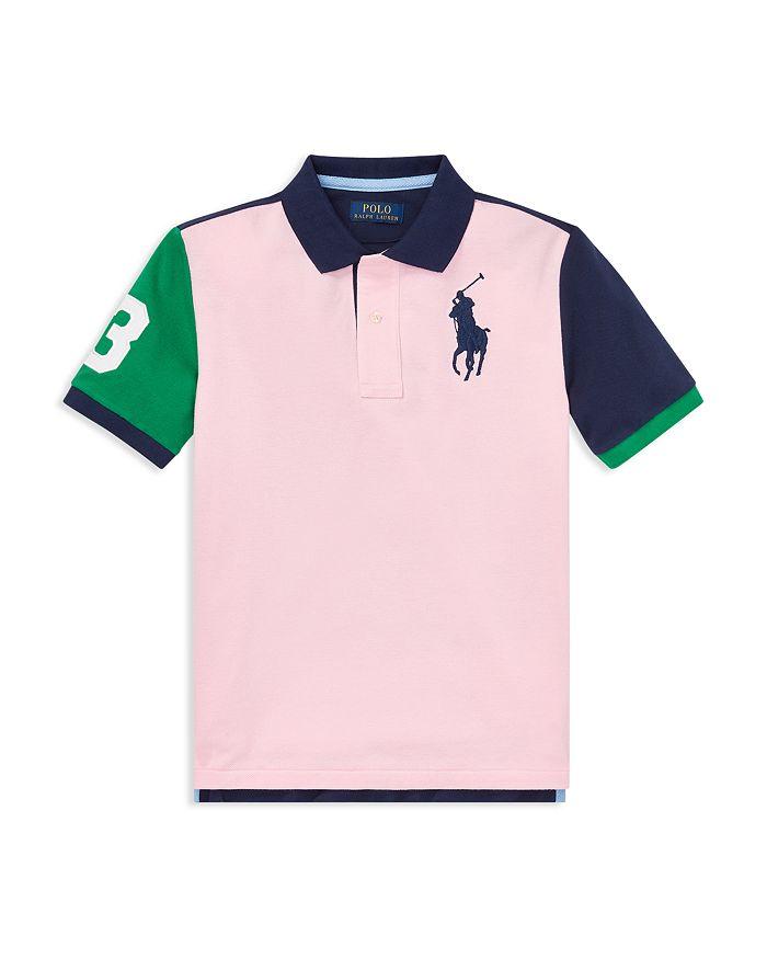 60c51c4399782 Ralph Lauren - Boys  Color-Blocked Big Pony Mesh Polo Shirt - Big Kid