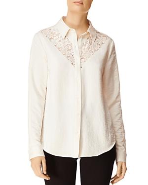 J Brand T-shirts LULA LACE-INSET SHIRT