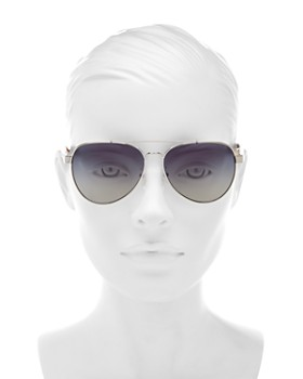 81515a95d4e2 ... 57mm Tory Burch - Women s Brow Bar Aviator Sunglasses