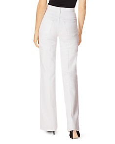 J Brand - Joan High Rise Wide Leg Jeans in White