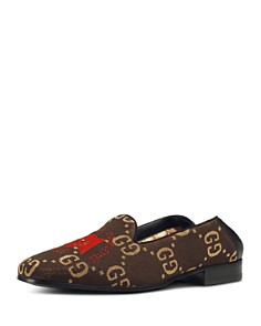 Gucci - Men's Winged Skull-Embroidered Loafers