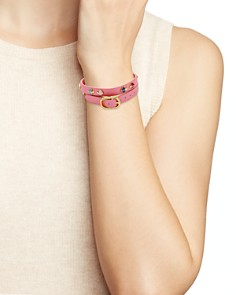 kate spade new york - Double Wrap Leather Bracelet