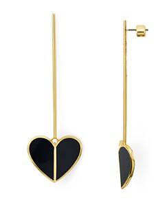 kate spade new york - Linear Heart Drop Earrings