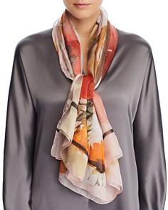 Larioseta - Watercolor Floral Silk Scarf