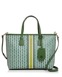 Tory Burch - Small Gemini Link Canvas Tote