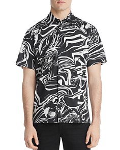 Just Cavalli - Short-Sleeve Swirl-Print Regular Fit Shirt