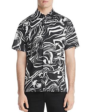 Just Cavalli T-shirts SHORT-SLEEVE SWIRL-PRINT REGULAR FIT SHIRT