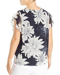 VINCE CAMUTO Plus - Floral Print Chiffon Blouse