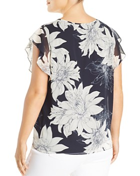 65ae5258378 ... VINCE CAMUTO Plus - Floral Print Chiffon Blouse. Quick View