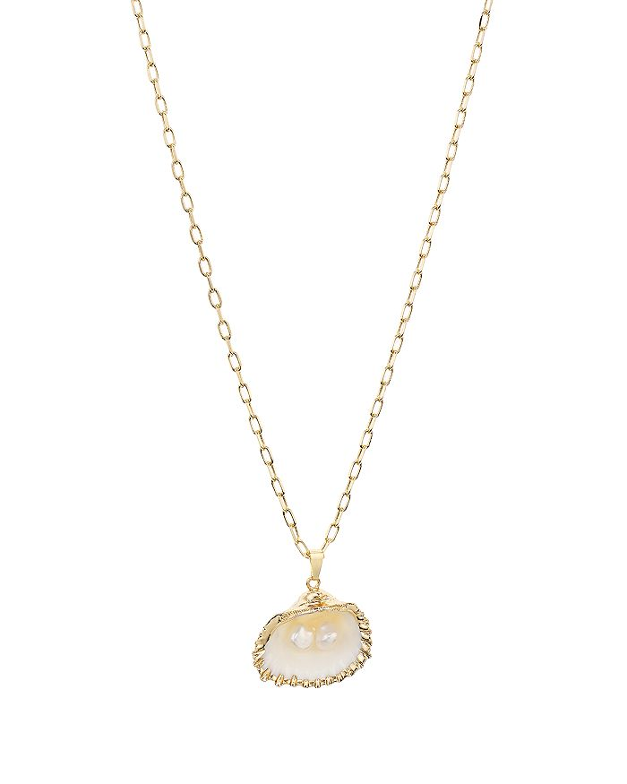 """AQUA - Shell & Cultured Freshwater Pearl Pendant Necklace, 32"""" - 100% Exclusive"""