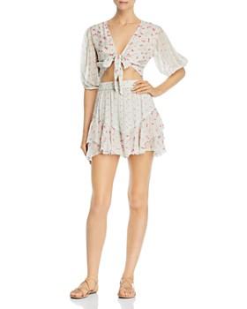 Hemant and Nandita - Floral Tiered Flounce Skirt