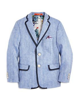 Tallia - Boys' Twill-Trim Linen Sport Coat - Big Kid