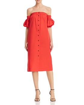 S/W/F - Off-the-Shoulder Midi Dress