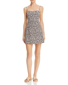 FRENCH CONNECTION - Sweetheart Whisper Botanical-Print Mini Dress