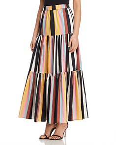 Tory Burch - Striped Cotton Maxi Skirt