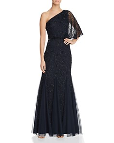 Adrianna Papell - One-Shoulder Embellished Gown
