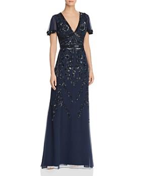 5890a89f76 Aidan Mattox - Embellished Flutter-Sleeve Gown ...