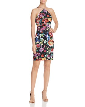50383b5a5ba Aidan by Aidan Mattox - Printed Crepe Dress ...