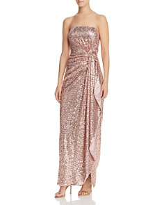 Aidan by Aidan Mattox - Strapless Sequin Gown - 100% Exclusive