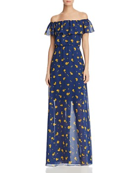d5f3f910ce7 Betsey Johnson - Marigold Buds Off-the-Shoulder Maxi Dress ...