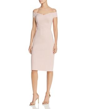 a136a8e898 Eliza J - Off-the-Shoulder Sheath Dress ...