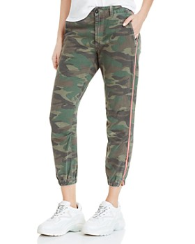 6dfe4c21296 Sundry - Striped-Trim Camo Jogger Pants ...