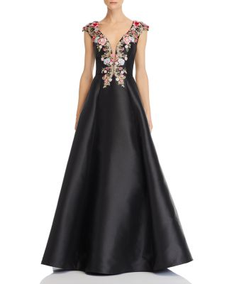 Embellished Silk Ball Gown by Basix