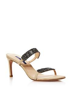Stuart Weitzman - Women's Razzle Embellished High-Heel Sandals