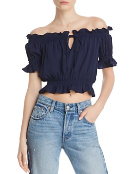4d4526bda6fc68 Whistles - Jasmin Off-the-Shoulder Top - 100% Exclusive ...