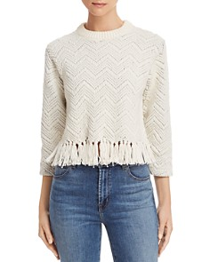 Joie - Claudelle Tasseled Chevron Stitch Sweater