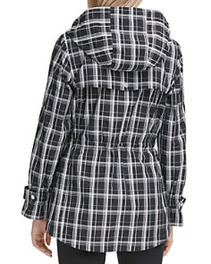 Calvin Klein - Hooded Plaid Jacket
