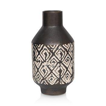 Mitchell Gold Bob Williams - Black Metallic & White Large Vase