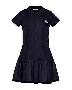 Moncler - Girls' Abito Maniche Corte Polo Dress - Big Kid