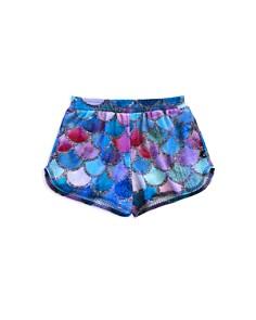 Terez - Girls' Mermaid-Scale Shorts - Little Kid