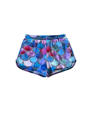 Terez Girls' Mermaid-Scale Shorts - Little Kid