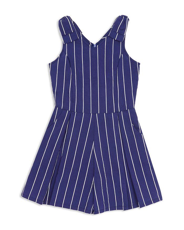 Habitual Kids - Girls' Leila Striped Bow-Shoulder Romper - Big Kid