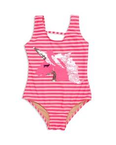 Shade Critters - Girls' Flip Sequin Unicorn One-Piece Swimsuit - Little Kid