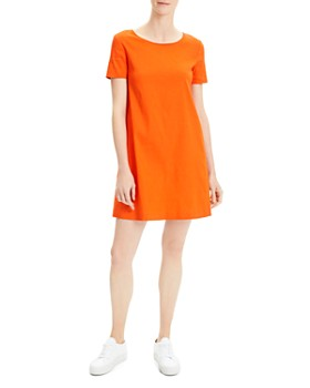 3abcd937 Theory - Paneled Mini Shift Dress ...