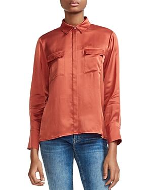 Maje Ceci Silk Satin Shirt