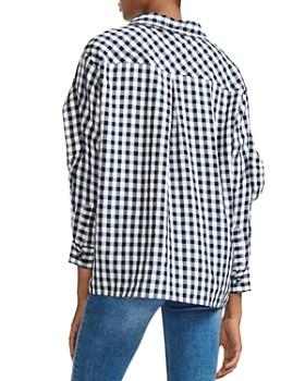 Maje - Capri Gingham Ruffle-Trim Shirt