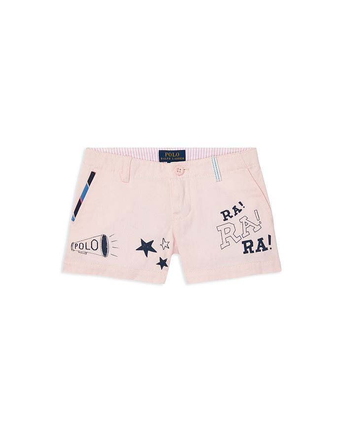 Ralph Lauren - Girls' Graphic Chino Shorts - Little Kid