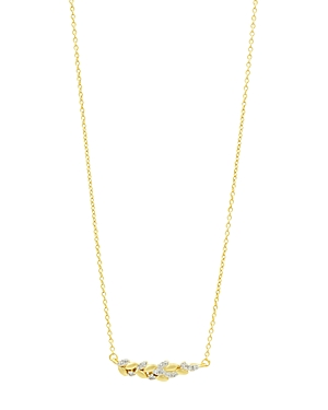 Freida Rothman Fleur Bloom Floral Cluster Necklace in 14K Gold-Plated & Rhodium-Plated Sterling Silver, 16