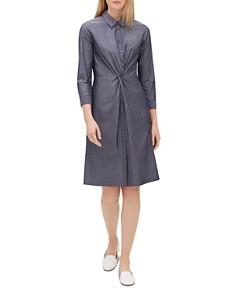 Lafayette 148 New York - Federica Pinstriped Twist-Front Dress