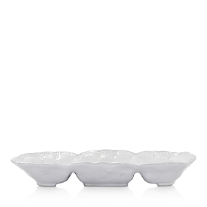 Vietri Incanto Stone White Lace Medium Three-Part Server-Home