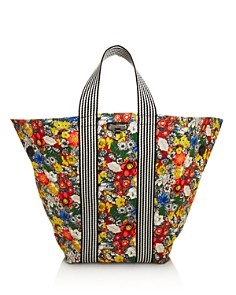 Rebecca Minkoff - Large Reversible Fabric Fan Tote