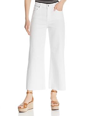 7 For All Mankind Jeans ALEXA CROP WIDE LEG JEANS IN WHITE RUNWAY DENIM