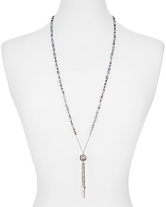 Chan Luu - Cultured Freshwater Pearl Tassel Lariat Necklace, 32""