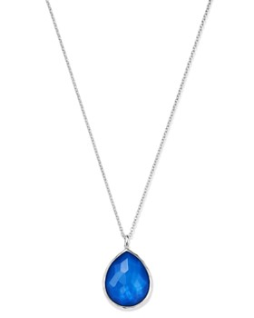 "IPPOLITA - Sterling Silver Wonderland Mother-of-Pearl Doublet Large Pendant Necklace, 18"""