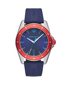 Emporio Armani - Sigma Blue Silicone Strap Watch, 44mm