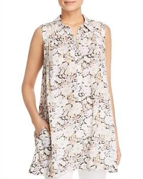 Cupio - Floral-Print Swing Tunic